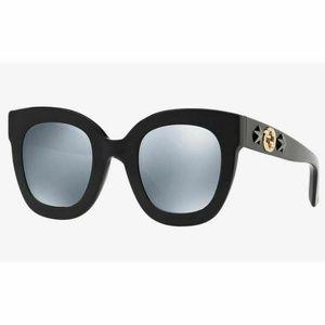 Gucci Sunglasses Grey/Silver Mirrored Lens